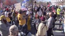 IMAGES: 'Y'all are gonna kill each other:' Protesters from across political spectrum clash at Governor's Mansion