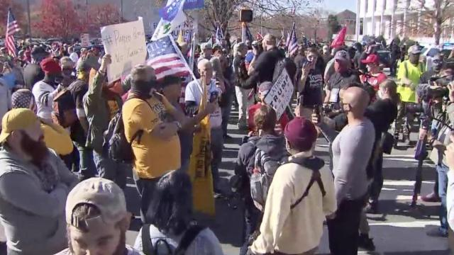Protesters clash in downtown Raleigh