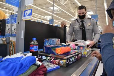 Baker and his deputies hoped their efforts would help provide a memorable holiday for these eight families who needed an extra dose of holiday magic.