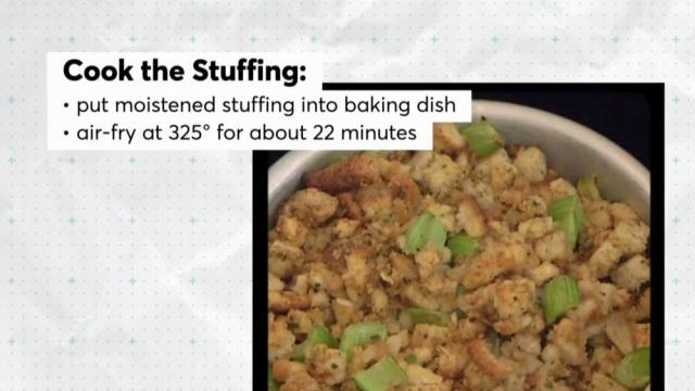 Keep it simple: You can cook stuffing this holiday season in the air fryer.