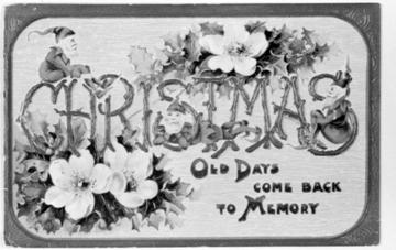 Vinatge Christmas cards in Raleigh dating back to the 1930s. Image courtesy of the State Archives of North Carolina.