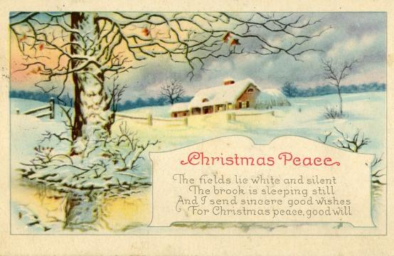 Vinatge holiday cards from Raleigh, dating back to the 1930s. Image courtesy of the State Archives of North Carolina.