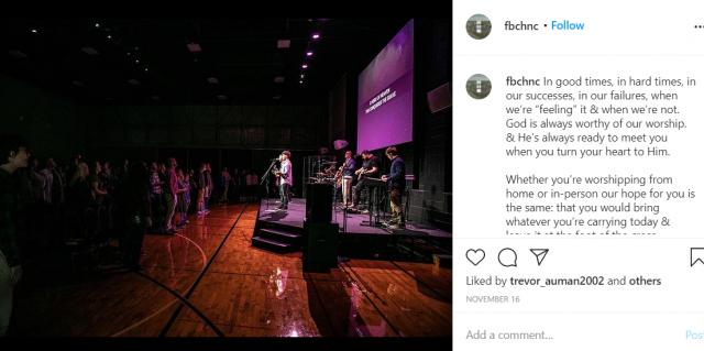 FBC Hendersonville's Instagram page.