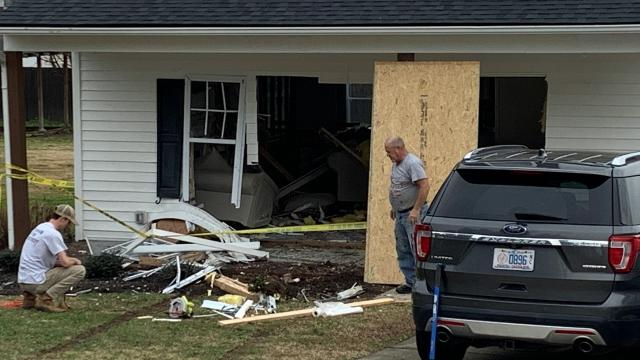 Car into Wendell home
