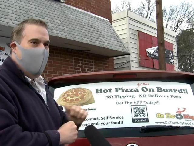 """On the Way Foods"" is touted as a first-of-its-kind automated food delivery service in Durham. Owner Rich Schreiber says it's an answer to pandemic safety concerns as well as the higher costs of getting a quick, hot meal."