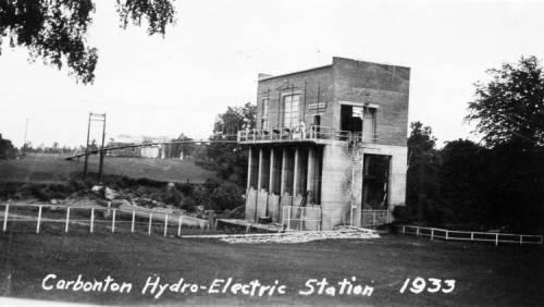 Carbonton hydro-electric station circa 1933. Courtesy of the State Archives of North Carolina.