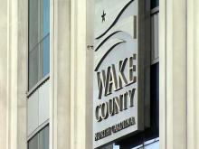 Wake County building, Wake County sign
