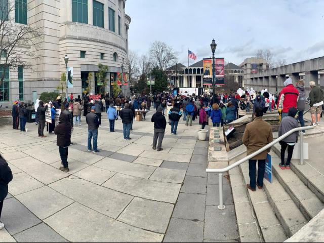 Hundreds gather at March for Life rally in downtown Raleigh
