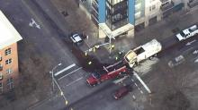 IMAGE: Hydraulic fluid spill closes downtown Raleigh intersection