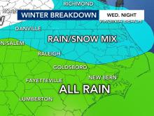 A look at possible snow Wednesday night
