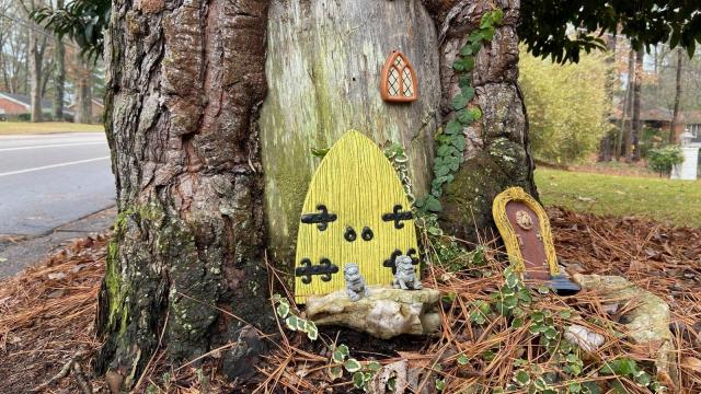 Fairy door on Glen Eden Drive in Raleigh