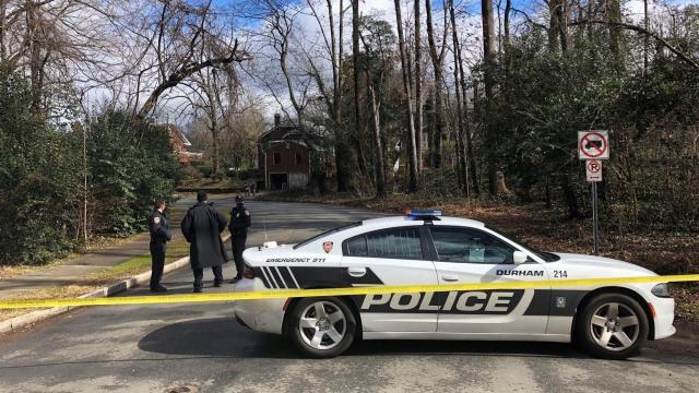 Durham police and bomb squad were at a home on Sunday afternoon after a mortar round stamped 1942 was found by the owner while doing renovations.