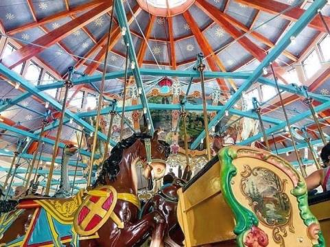 The carousel at Pullen Park was first used in Bloomsbury Park in 1912. When Bloomsbury closed, Pullen bought the treasured carouel, which dates back to around 1900, making it one of the oldest surviving gems from German artist Gustav Dentzel.