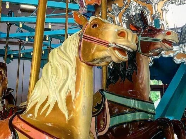 The carousel at Pullen Park was first used in Bloomsbury Park in 1912. When Bloomsbury closed, Pullen bought the treasured carouel, which dates back to around 1900, making it one of the oldest surviving gems from German artist Gustav Dentzel.<br/>Photographer: Heather Leah
