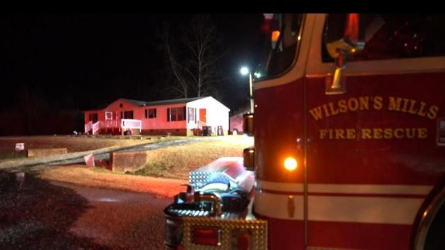 Firefighters from Clayton, Wilson's Mills and Smithfield responded to a fire at a Johnston County mobile home.