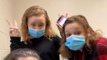 IMAGES: NC teen sisters honored to help out in Pfizer COVID-19 vaccine trial