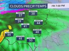 Cold front brings rain, cooler temperatures for Friday