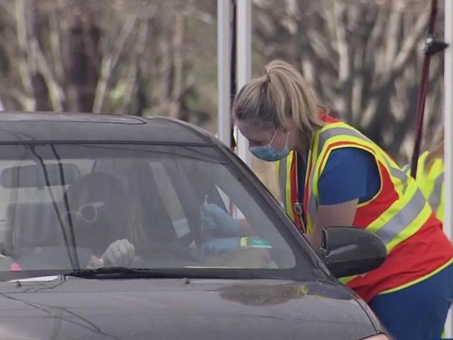 Groups 1-4 welcome at drive-thru vaccine clinic in Johnston County Friday afternoon - WRAL.com