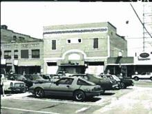 Historic photo of the Temple Theater in Sanford.