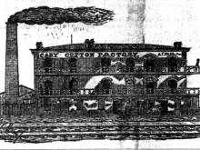 The aged  fabric  mill  was cardinal  to Railroad Street.