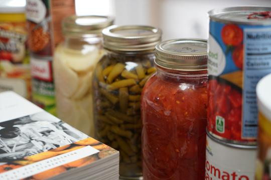 Canned food in case of an emergency