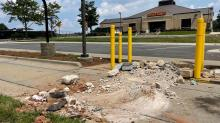 IMAGES: Thieves use excavator from construction site to steal from Wells Fargo ATM