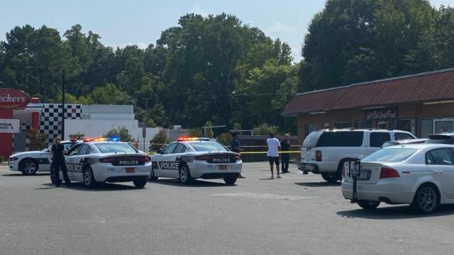 Durham police surround the resturant Let's Eat Soul Food after person stabbed