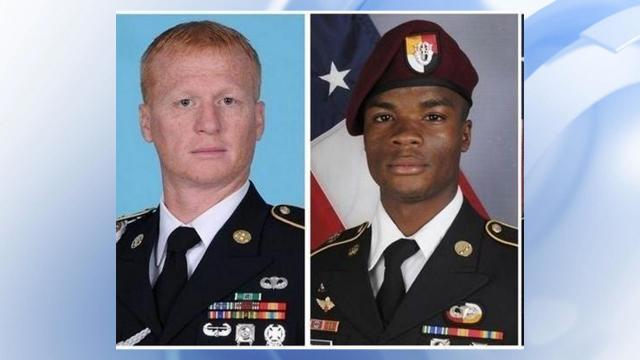 A ceremony for Sgt. 1st Class Jeremiah Johnson, 39, and Sgt. LaDavid Johnson, 25, was held in Fort Bragg on July 20, when the soldiers were honored for their bravery. Both were killed in action by enemy combat.