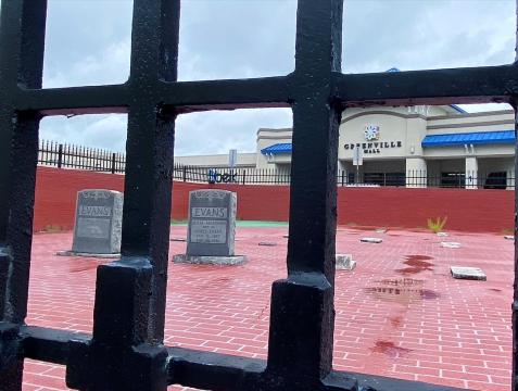 Buried in concrete: Cemetery hidden in mall parking deck dates back to 1800s