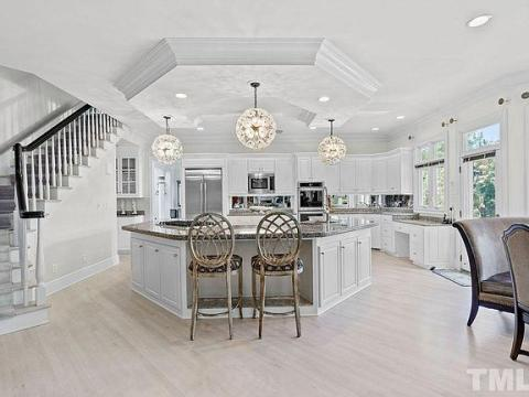 This north Raleigh home that was just up for sale looks like something out of Beverly Hills.  (Image by Zillow)