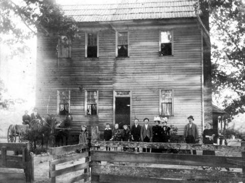 Historic representation  of the High House, courtesy of Friends of Page-Walker and Cary archives.