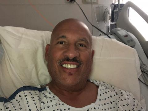 WRAL Fayetteville newsman  Gilbert Baez successful  the COVID-19 portion   of Cape Fear Valley Medical Center