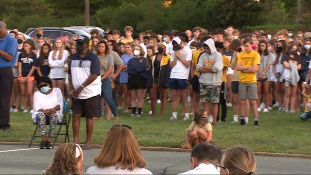 People gathered at Mount Tabor United Methodist Church after a fatal school shooting earlier this week.