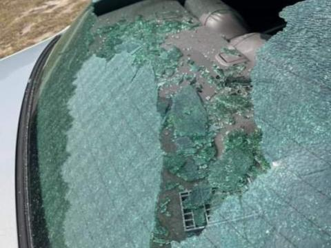 Several shots were fired into the back of a car while a mother and her 9-year-old daughter were driving in Pembroke. Four people are facing charges