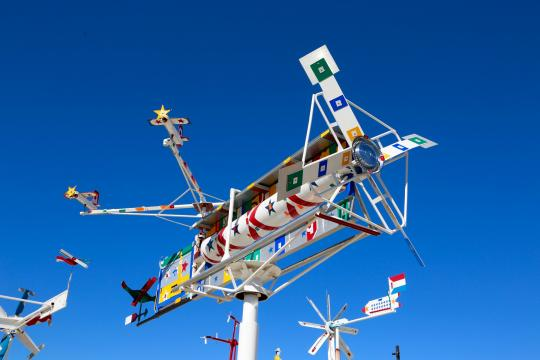 Whirligig at the park in Wilson. (Image courtesy of the Vollis Simpson Wilson Whirligig Park)