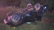 IMAGES: Crash on Capital Boulevard in Wake Forest sends 5 to hospital
