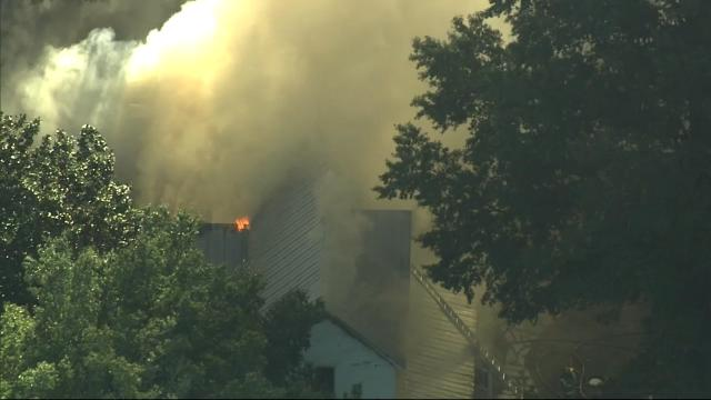 House fire in Wendell sends plumes of smoke into the air, draws large response