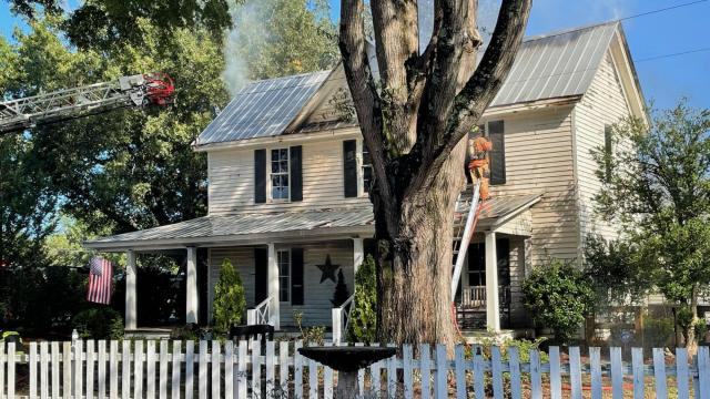 The Historic Marshburn Home in Wendell caught fire on Thursday morning.