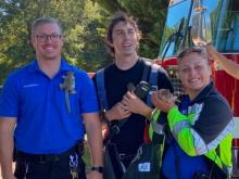 Baby squirrels rescued from house fire in Wendell