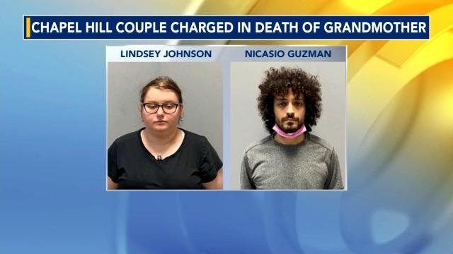 Lindsey Mae Johnson, 24, and Nicasio Antonio Guzman, of Chapel Hill, were charged with first-degree murder in the death of Elizabeth Morris Adkins.
