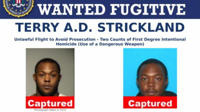 Terry A.D. Strickland, a man wanted for a double murder in Wisconsin and listed among the FBI's Ten Most Wanted, was arrested in Texas Sunday morning.