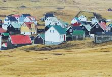 Colorful homes dotting the hillside of Gjógv in the Faroe Islands. (Deseret Photo)