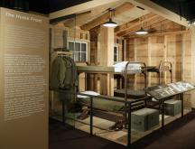 The Home Front exhibit at the National World War II Museum in New Orleans displays a replica of a barracks during basic training. (Deseret Photo)