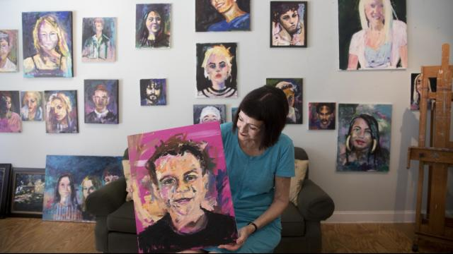 Painting to remove the stigma: Faces of youth lost to overdose