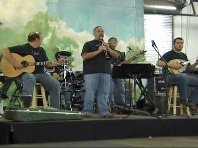 A band performs during the annual Greek Festival in Raleigh on Sept. 20, 2008.