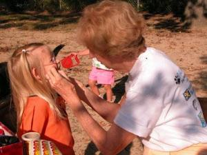 A child gets her face painted at the Paws for a Cause event in Rocky Mount on Oct. 4, 2008. (Submitted by: Dianne Shaw)