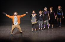 Education programs at Children's Theatre of Charlotte inspire creativity, confidence, and a sense of community. Professional teaching artists lead students ages 3-18 though engaging, interactive sessions. (Photo courtesy North Carolina Center for Nonprofits)