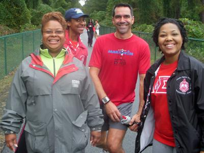 Members of the Durham Alumnae Chapter of Delta Sigma Theta Sorority, family and friends joined nations of the world Saturday in the inaugural World's Biggest Walk.