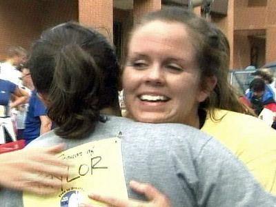 Taylor Bell was one of many lung cancer survivors who took part in the Free to Breathe 5K run/walk to raise money and awareness for lung cancer on Nov. 8, 2008.