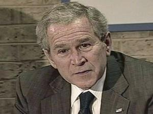 President George W. Bush during a visit to the Big Brothers Big Sisters of Greater Greensboro on Dec. 2, 2008.